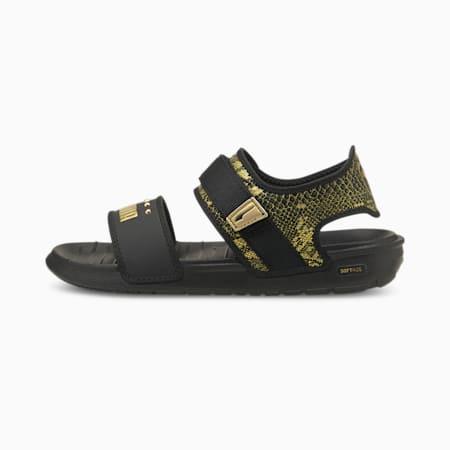Softride Snake Women's Sandals, Puma Black-Puma Team Gold, small-IND