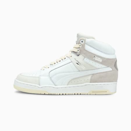 Slipstream Mid Luxe Trainers, Puma White-Gray Violet, small