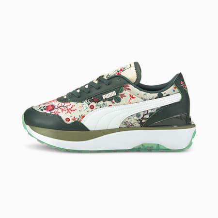 PUMA x LIBERTY Cruise Rider NU Sneaker für Damen, Green Gables-Puma White, small