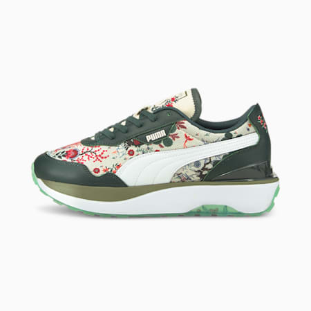 Cruise Rider NU Liberty Women's Sneaker, Green Gables-Puma White, small-IND