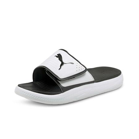 Softride Men's Slides, Puma White-Puma Black, small-IND