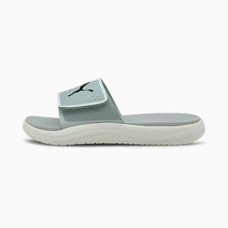 Softride Men's Slides, Quarry-Puma Black-Glacier Gray, small-IND