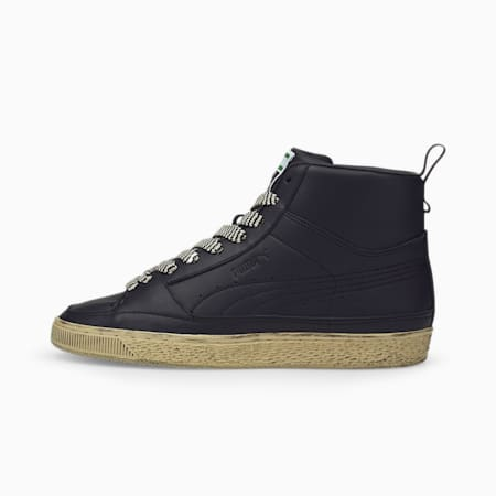 Suede Mid x Rhuigi Unisex Sneakers, Puma Black, small-IND