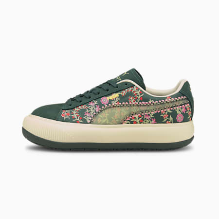 PUMA x LIBERTY Suede Mayu Women's Trainers, Green Gables-Olivine, small