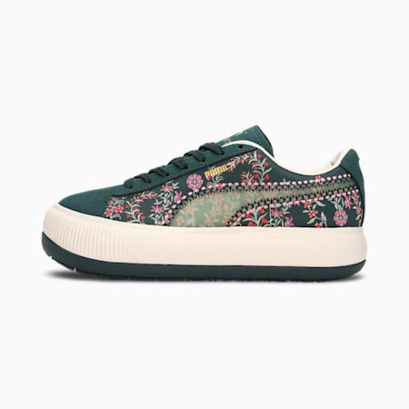 PUMA x LIBERTY Suede Mayu 2 Women's Sneakers, Green Gables-Olivine, small-IND