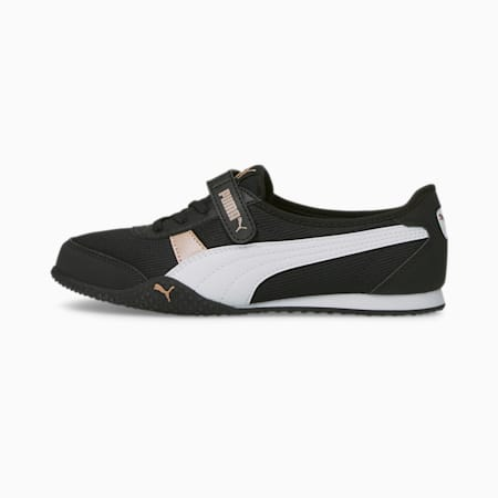 Zapatos deportivos Bella V de mujer, Puma Black-Puma White-Rose Gold, pequeño