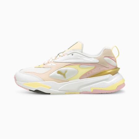 RS-Fast Mix Gold Trainers, Puma White-Pearl-Yellow Pear, small