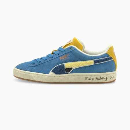 Młodzieżowe zamszowe buty sportowe PUMA x BLACK FIVES Classic, Star Sapphire, small