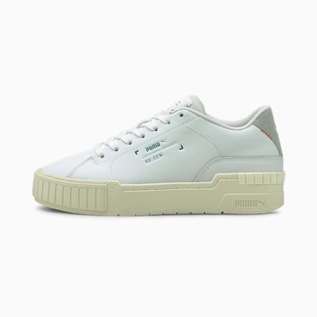 Zapatos deportivos Cali Sport RE.GEN para mujer, Puma White-Whisper White, pequeño