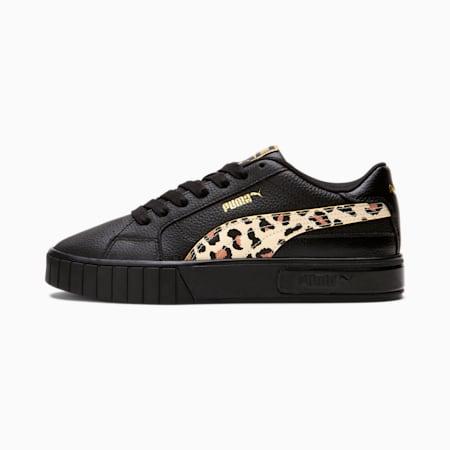Zapatos deportivos Cali Star Leopardpara mujer, Black-Summer Melon-Pheasant, pequeño