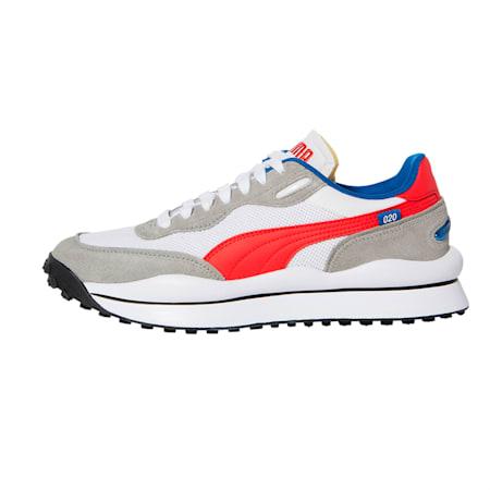 스타일 라이더 플레이 온 SD 메쉬/STYLE RIDER PLAY ON SD MESH, Puma White-Flame Scarlet-Snorkel Blue, small-KOR
