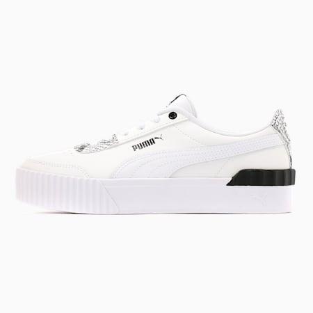 Damskie buty sportowe Carina Lift Reptile, Puma White- White-Puma Black, small