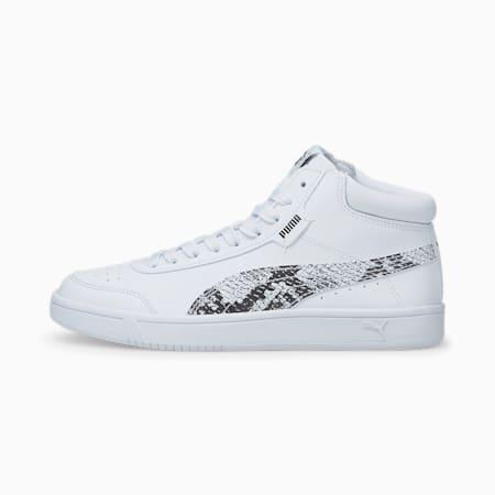 Court Legend Reptile Sneaker, Puma White-Puma Black- White, small