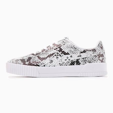 Damskie buty sportowe Carina Reptile, Puma White-Puma Black, small
