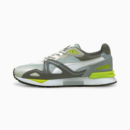 Mirage Mox Neon Trainers, Quarry-Puma White-Acid Lime, small