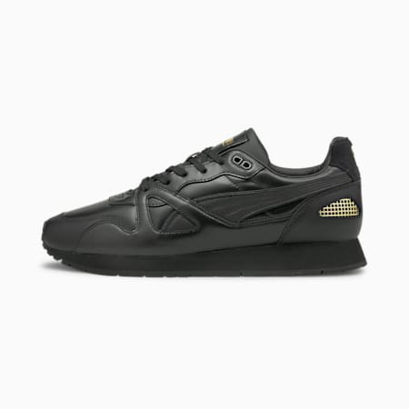 Mirage Original Suit Shoes, Puma Black- Black- Team Gold, small-IND
