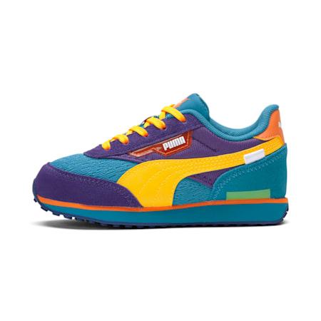 PUMA x RUGRATS Kinder Sneaker, Caribbean Sea-ULTRA YELLOW, small