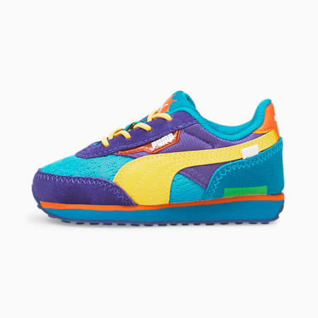 Niemowlęce buty sportowe PUMA x RUGRATS, Caribbean Sea-ULTRA YELLOW, small