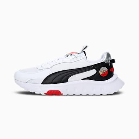 Wild Rider Art of Sport Unisex Sneakers, Puma White-Puma Black-High Risk Red, small-IND
