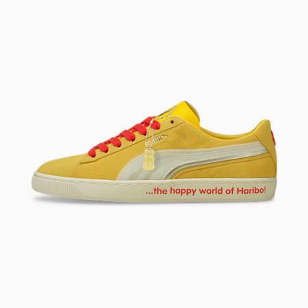 Zapatos deportivos PUMA x HARIBO Suede Triplex, Mimosa-Whisper White, pequeño