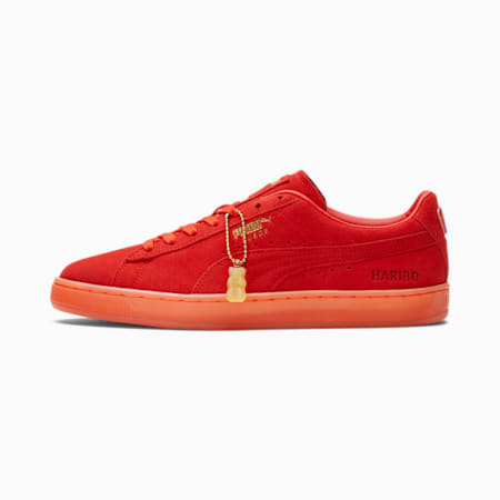 Zapatos deportivos PUMA x HARIBO Suede para hombre, Poppy Red-Poppy Red, pequeño