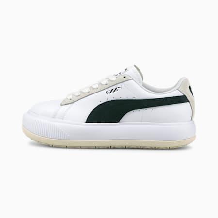 Baskets Suede Mayu Mix femme, Puma White-Marshmallow-Puma Black, small