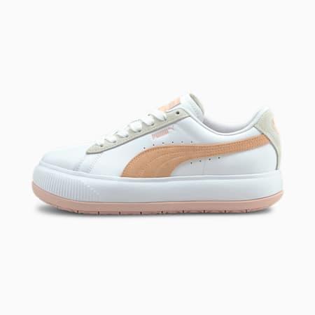 Baskets Suede Mayu Mix femme, Puma White-Lotus-Peach Parfait, small