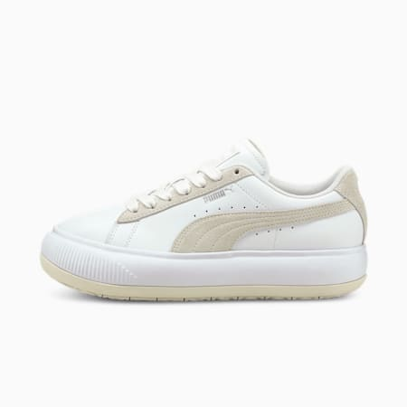 Suede Mayu Mix Women's Trainers, Puma White-Marshmallow, small-GBR