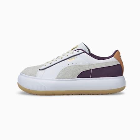 Zapatos deportivos Suede Mayu SC para mujer, Puma White-Gum-Sweet Grape, pequeño