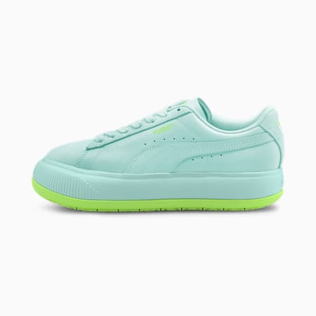 Suede Mayu Mono Women's Sneakers, Eggshell Blue-Green Glare, small-IND