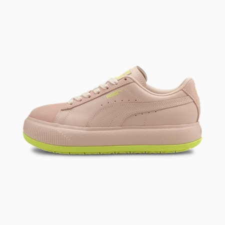 Suede Mayu Mono Women's Trainers, Lotus-SOFT FLUO YELLOW, small-GBR