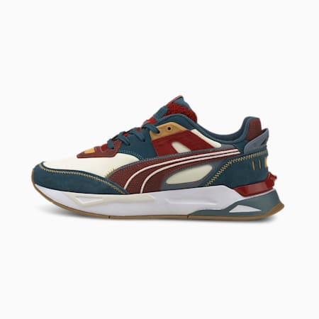 Mirage Sport P.Uni Unisex Shoes, Ivory Glow-China Blue-Intense Red, small-IND
