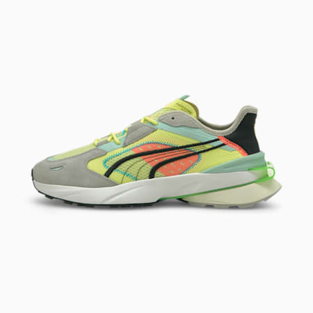 PWRFRAME OP-1 Abstract Trainers, SOFT FLUO YELLOW-Quarry-Marshmallow, small