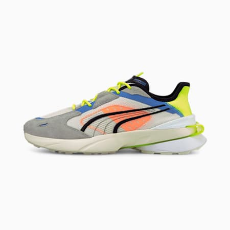 PWRFRAME OP-1 Abstract Trainers, Nimbus Cloud-Yellow Alert-Puma White, small