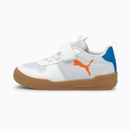 Multiflex SPORT AC Kids' Trainers, Puma White-Vibrant Orange, small
