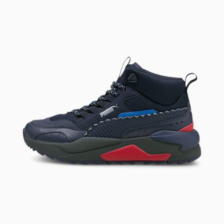 Zapatos deportivos media caña X-Ray 2 Square JR, Peacoat-Peacoat-Future Blue-High Risk Red-Puma Silver, pequeño