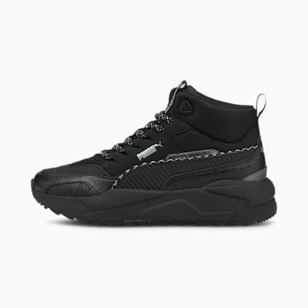 Zapatos deportivos media caña X-Ray 2 Square JR, Puma Black-Puma Black-Puma Silver, pequeño
