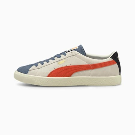 Suede Vintage Formstripe Unisex Sneakers, Whisper White-Peyote-China Blue, small-IND