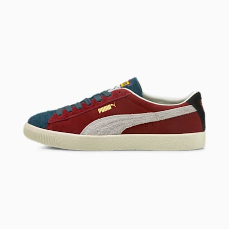 Suede Vintage Formstripe Unisex Sneakers, Intense Red-Sweet Grape-Intense Blue, small-IND