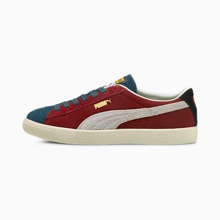 Zapatos deportivos Suede Vintage WTFormstrip, Intense Red-Sweet Grape-Intense Blue, pequeño