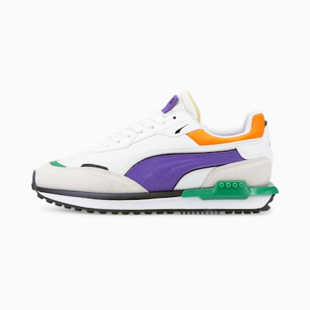 Zapatos deportivos City Rider Electric JR, Vaporous Gray-Puma White, pequeño
