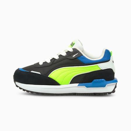 Zapatos City Rider Electric para niños pequeños, Puma Black-Green Glare, pequeño