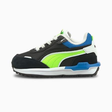 Zapatos City Rider Electric para bebé, Puma Black-Green Glare, pequeño