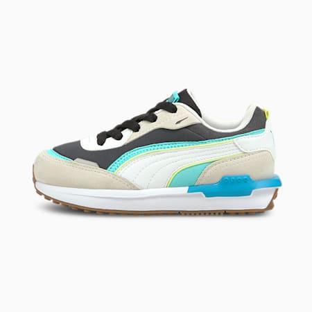 Zapatos deportivos CityRider para niñas pequeñas, Vaporous Gray-Ebony, pequeño