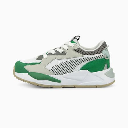 Zapatos RS-Z College para niño pequeño, Amazon Green-Puma White, pequeño