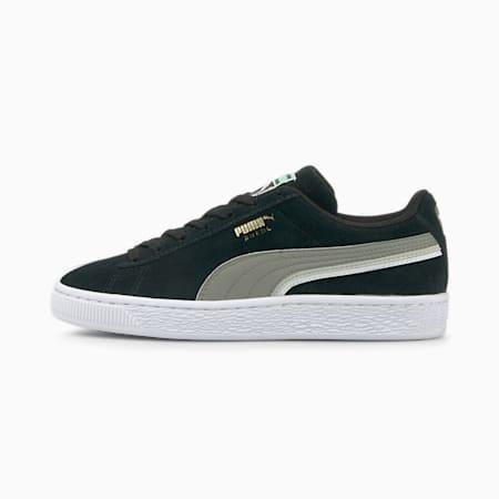Zapatos deportivos Triplex de gamuza para joven, Puma Black-Steel Gray-White, pequeño