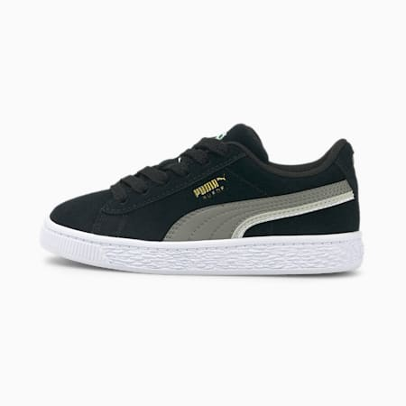 Zapatos deportivosSuede Triplexpara niños pequeños, Puma Black-Steel Gray-Puma White, pequeño