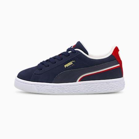 Zapatos deportivosSuede Triplexpara niños pequeños, Peacoat-High Risk Red-Puma White, pequeño