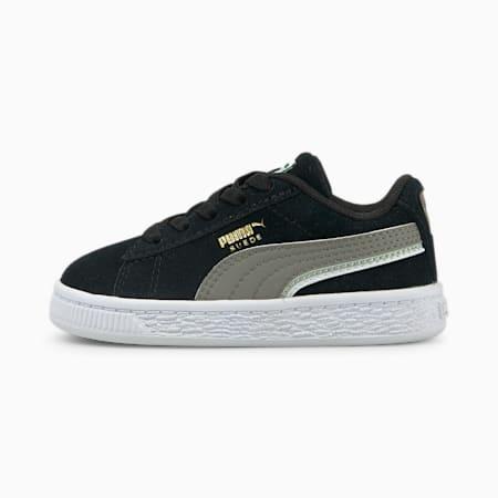 Zapatos Triplex de gamuza para bebé, Puma Black-Steel Gray-Puma White, pequeño