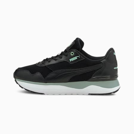 Zapatos deportivos R78 Voyage Premium para mujer, Puma Black-Puma Black-Jadeite, pequeño